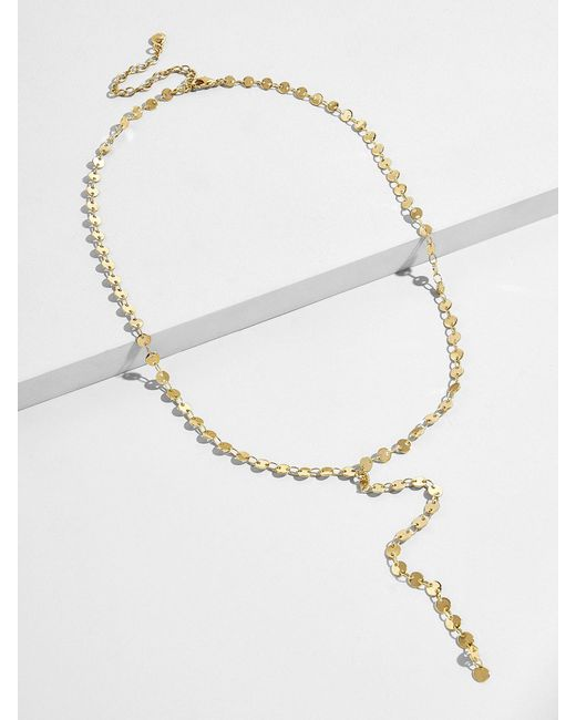 BaubleBar - Metallic Athena Y-chain Necklace - Lyst