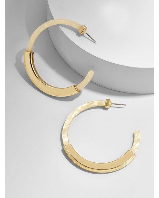 BaubleBar - White Tassiana Hoop Earrings - Lyst