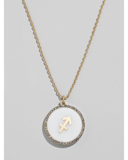 BaubleBar Multicolor Zodiac Pendant Necklace