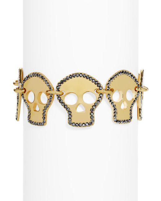BaubleBar | Multicolor Crystal Skull Bracelet | Lyst