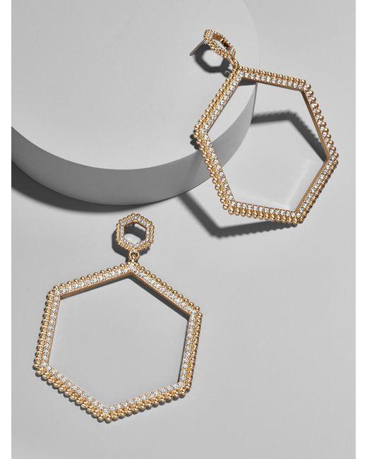 BaubleBar | Multicolor Hexagonal Hoop Earrings | Lyst