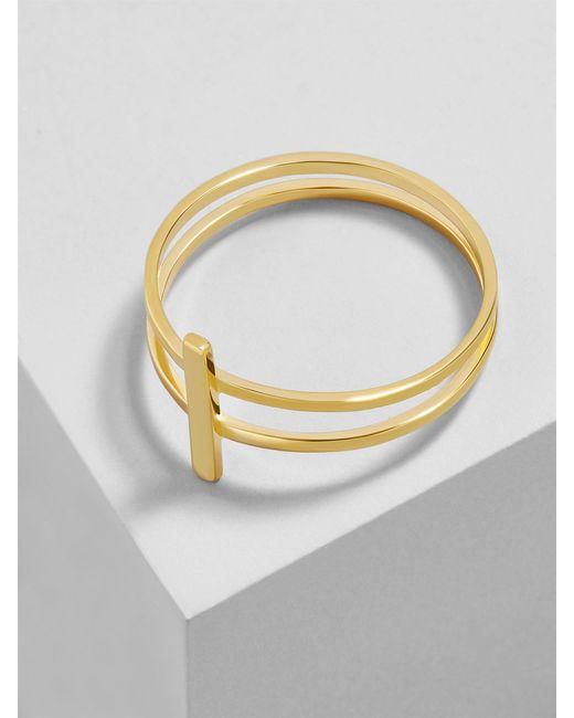 BaubleBar - Metallic Punto 18k Gold Plated Ring - Lyst
