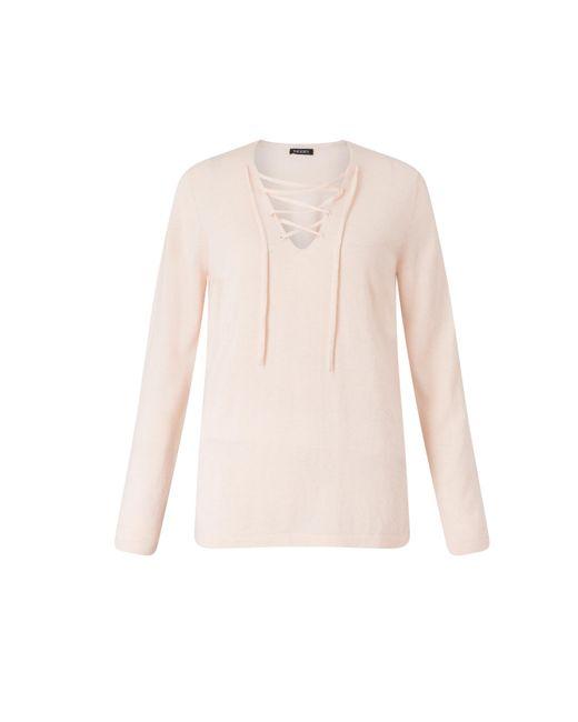 Baukjen | Pink Ingrid Tie Front Knit | Lyst
