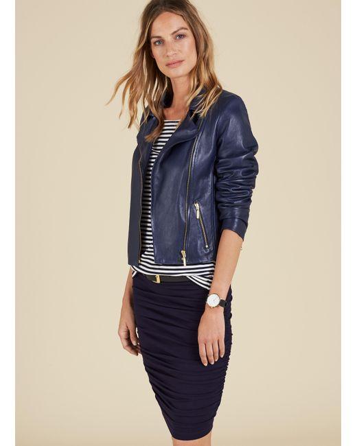 Baukjen | Blue Karlie Ruched Skirt | Lyst