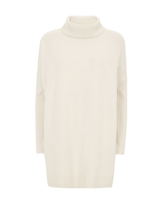 Baukjen | White Sian Roll Neck Jumper | Lyst