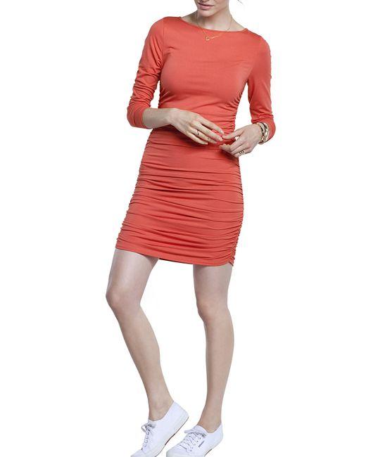 Baukjen - Red Ruched Jersey Dress - Lyst