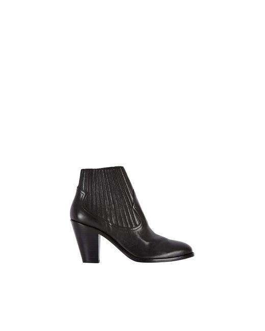 Baukjen Black Ash Leather Ilona Ankle Boot