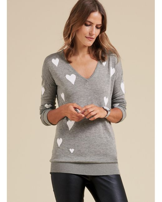Baukjen - Gray Agnes Heart Knit - Lyst