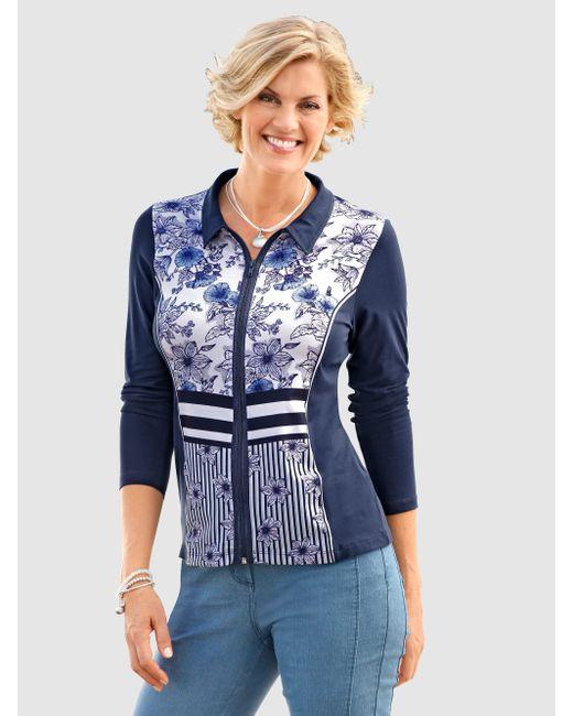 Paola Blue Shirtjacke mit Blütendruck