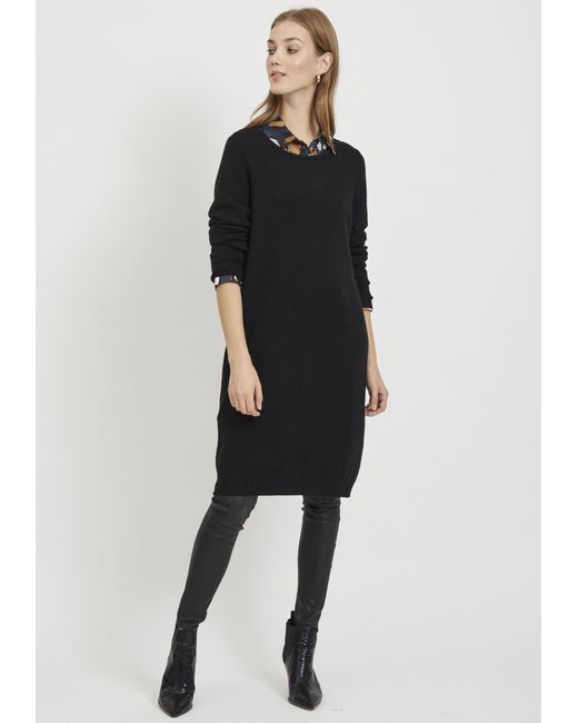 Vila Black Strickkleid RIL