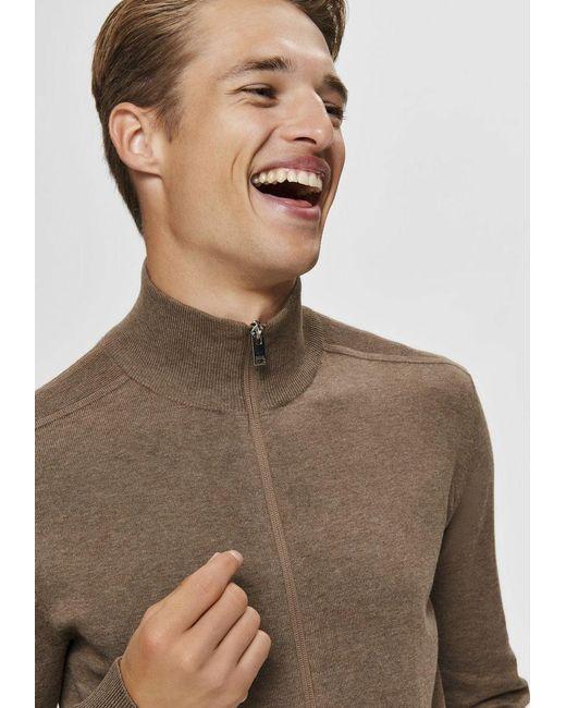 SELECTED Cardigan Berg Full Zip Cardigan in Natural für Herren