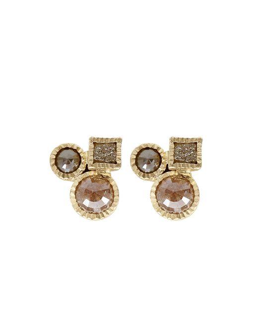 Todd Reed | Metallic Raw Diamond Cluster Earrings | Lyst