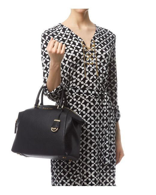MICHAEL Michael Kors | Black Riley Satchel | Lyst