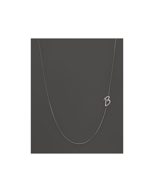KC Designs | Diamond Side Initial B Necklace In 14k White Gold, .09 Ct. T.w. | Lyst
