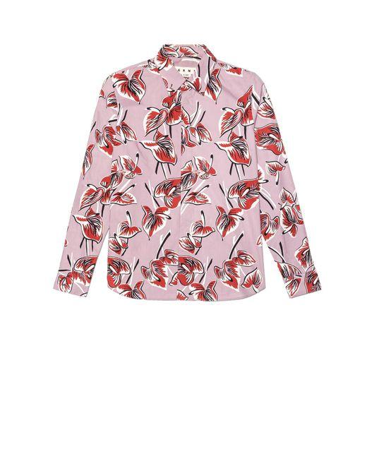 Marni | Green Floral-Print Cotton Shirt for Men | Lyst