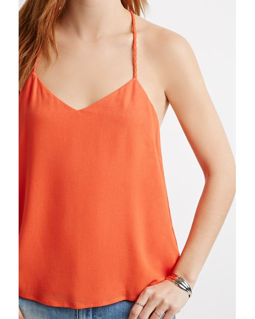 Forever 21 | Orange Contemporary Braided Y-back Cami | Lyst