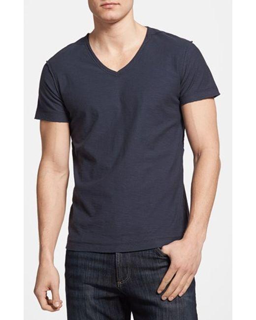Diesel 'tossik' V-neck T-shirt in Blue for Men | Lyst
