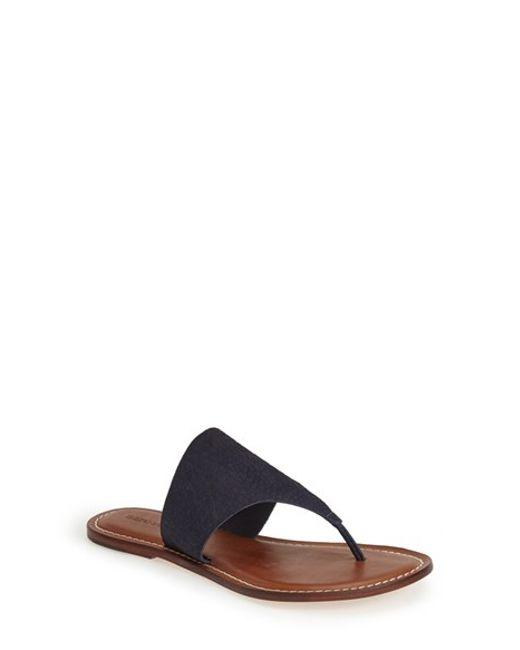 Bernardo | Blue Footwear Monica Thong Sandal | Lyst