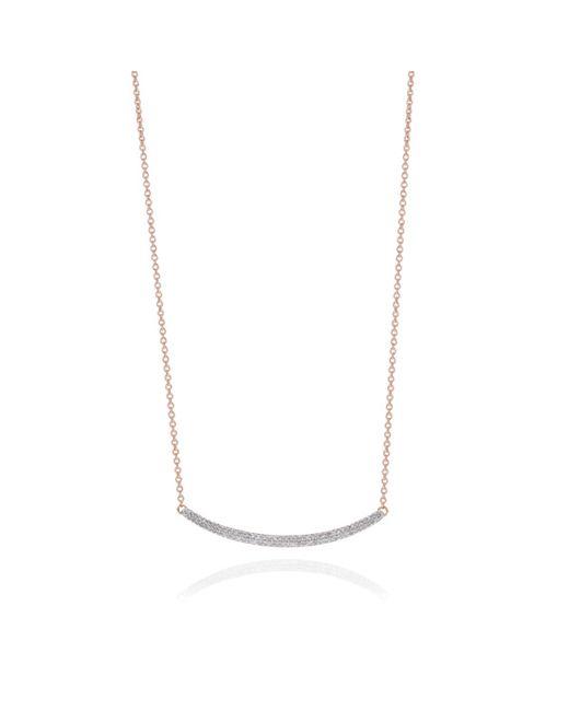 Monica Vinader | Metallic Skinny Curve Necklace | Lyst