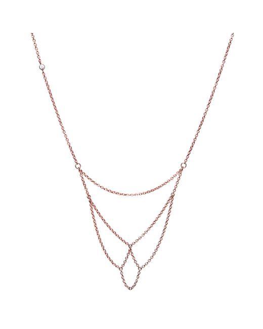 Dutch Basics   Metallic Boog Fine Chain Necklace Rose Gold   Lyst