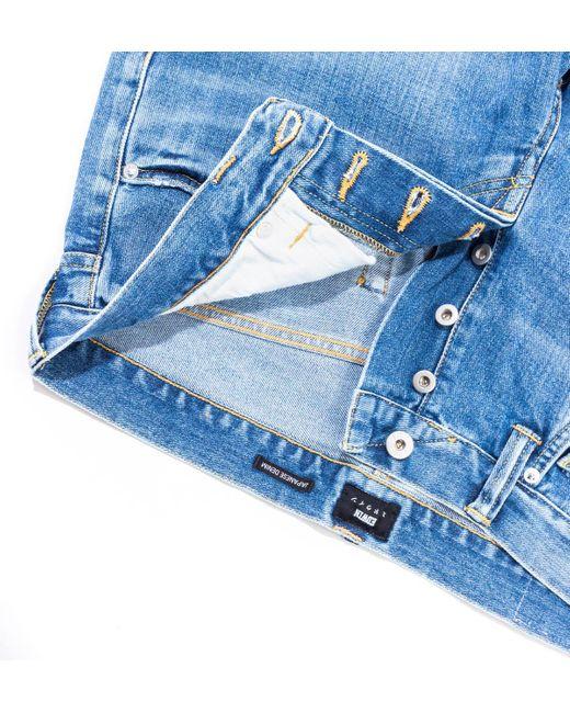 Edwin Blue Ed-55 Tapered 12.6 Oz Arisu Wash Yoshiko Left Hand Denim Jeans for men