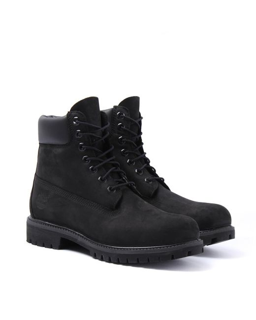 Timberland Icon Black 6-inch Premium Wide Fit Boots for men