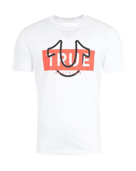 True Religion Graphic Horseshoe Logo T-shirt - White for men
