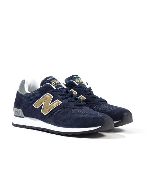 New Balance Blue 670 Made In England Navy Trainers for men