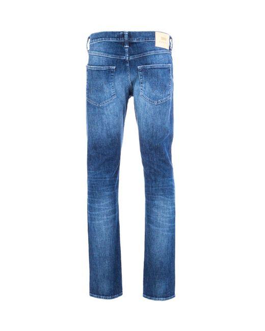 Edwin Ed-55 Regular-tapered 12.8 Oz Reoki Wash Yuuki Blue Denim Jeans for men
