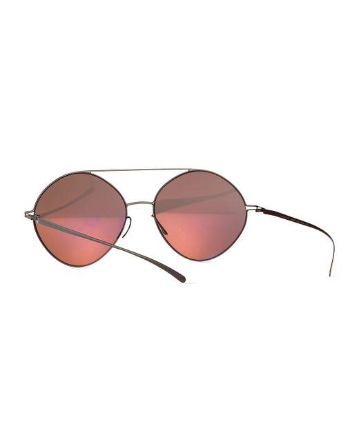 Mykita | Metallic Round Mirrored Stainless Steel Sunglasses | Lyst