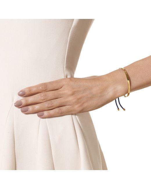 Monica Vinader | Pink Rose Gold Vermeil Navy Cord Fiji Bracelet | Lyst