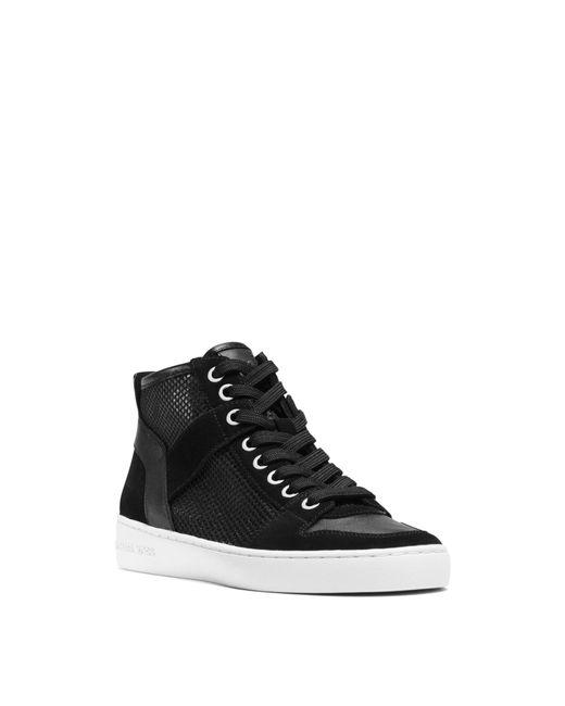 michael kors matty high top mesh sneaker in black lyst. Black Bedroom Furniture Sets. Home Design Ideas