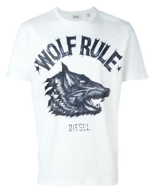 Diesel Wolf Rule T Shirt In White For Men Save 40 Lyst