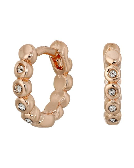 Vince Camuto | Pink Studded Mini Hinge Huggie Earrings | Lyst