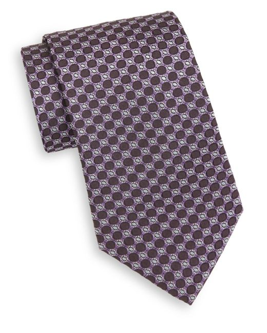 Saks Fifth Avenue | Purple Circle Silk Tie for Men | Lyst