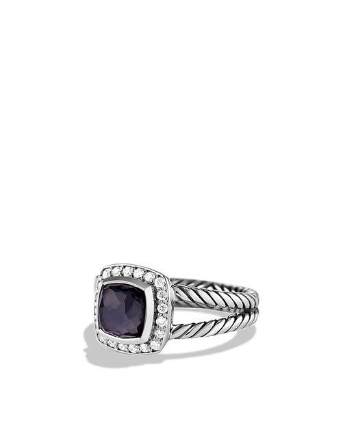 David Yurman | Purple Petite Albion Ring With Black Orchid And Diamonds | Lyst