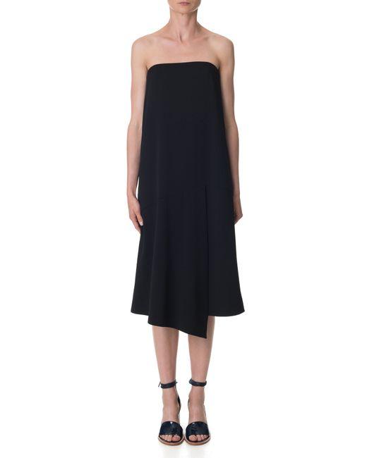 Tibi | Black Structured Crepe Dress | Lyst