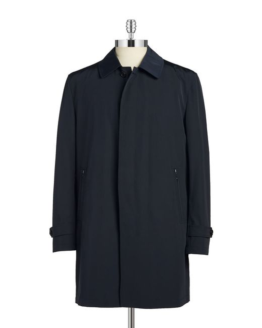 Cardinal Of Canada | Blue Button Front Rain Coat for Men | Lyst