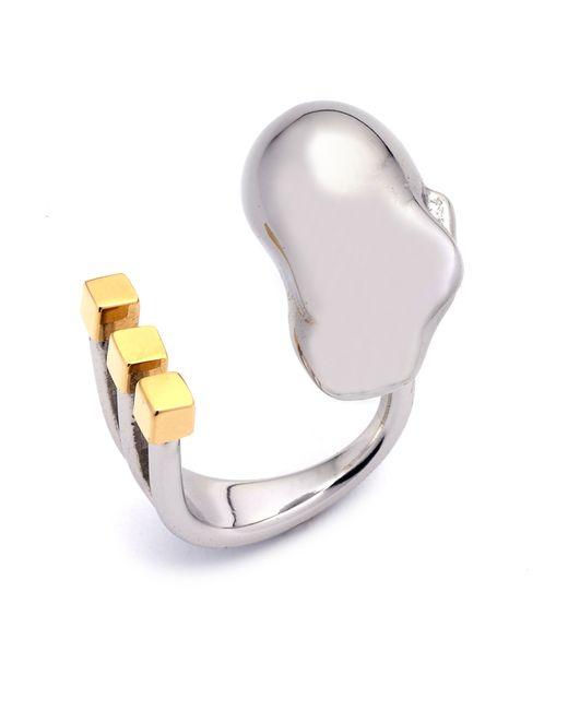 Caterina Zangrando | Metallic Hera Gold And Palladium Plated Ring | Lyst