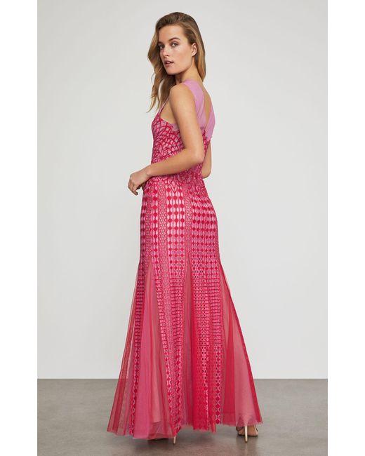 459211f5015a01 Browse stores. BCBGMAXAZRIA - Pink Bcbg Elinor Sleeveless Lace Gown - Lyst  BCBGMAXAZRIA - Pink Bcbg Elinor Sleeveless Lace Gown - Lyst ...