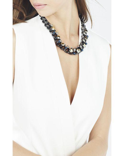 BCBGMAXAZRIA | Multicolor Stone Chain Necklace | Lyst