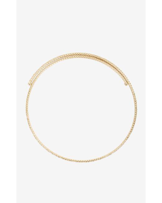 BCBGMAXAZRIA   Metallic Pave Choker Necklace   Lyst