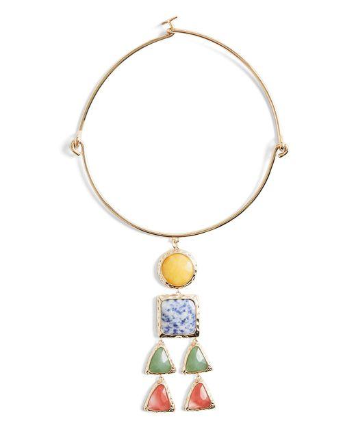 BCBGMAXAZRIA - Blue Bcbg Natural Stone Necklace - Lyst