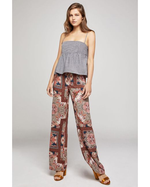 BCBGeneration - Multicolor Paisley Hypnosis Flared Leg Pant - Lyst