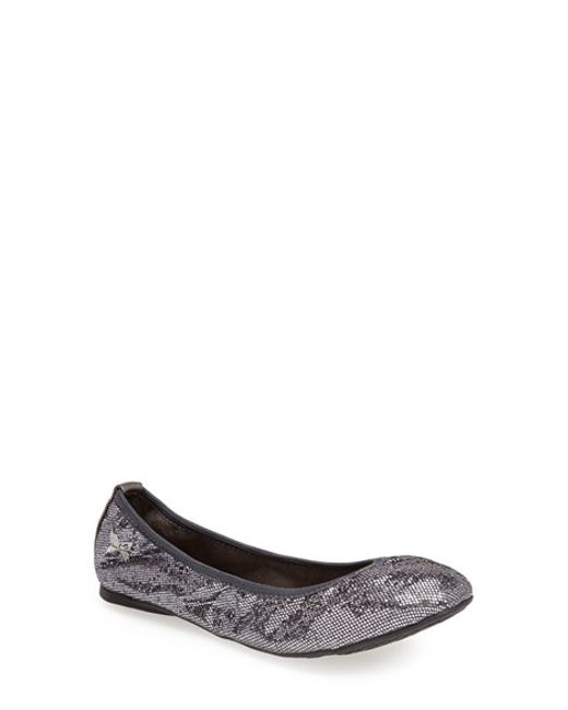 Butterfly Twists | Metallic 'samantha' Folding Ballerina Flat | Lyst