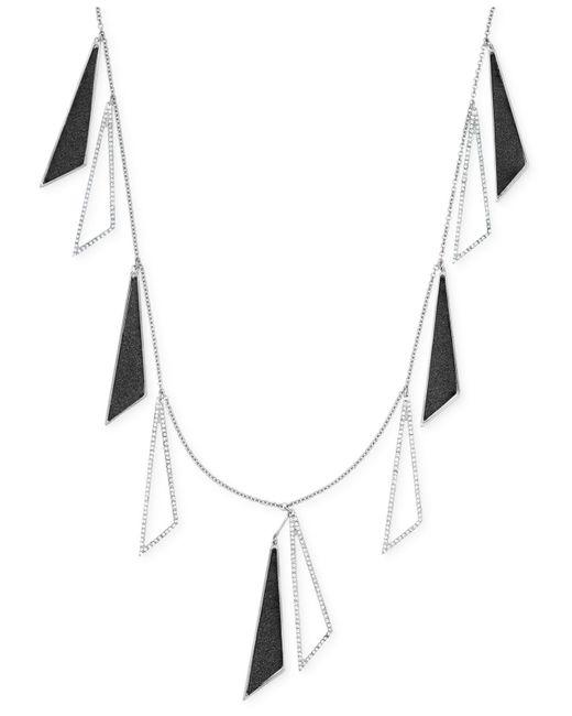 ABS By Allen Schwartz | Metallic Silver-tone Triangle Drop Scatter Station Necklace | Lyst