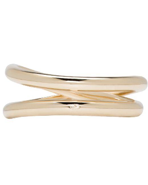 Maison Margiela   Metallic Gold Twisted Ring   Lyst