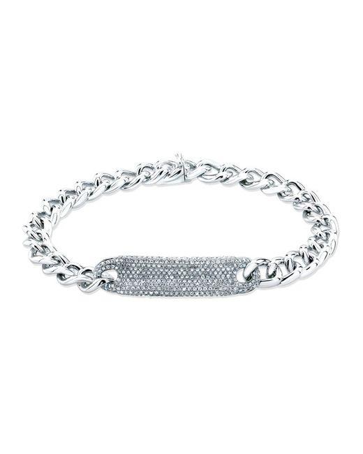 Anne Sisteron - Metallic 14kt White Gold Diamond Luxe Id Bracelet - Lyst