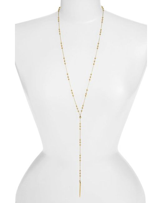 Dogeared | Metallic Long Y-necklace | Lyst