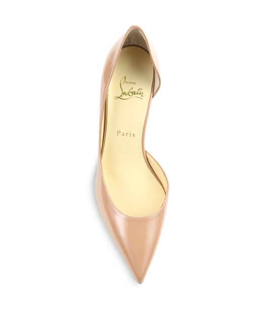 louis vuitton men sneakers - Christian louboutin Iriza Patent Leather Half D'Orsay Pumps in ...